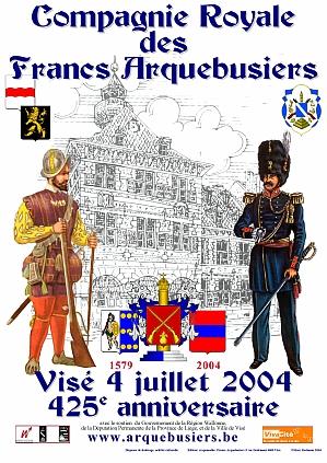 l'affiche du 425e anniversaire des Francs Arquebusiers par M. Poelmans