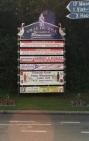 panneau à l'entrée de la ville
