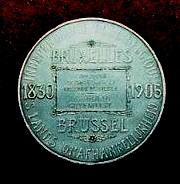 médaille reçue en 1905 pour la participation aux fêtes jubilaires, musée des FAV