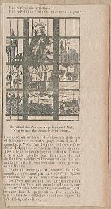 coupure de presse de 1897, inauguration du vitrail des arquebusiers de Visé