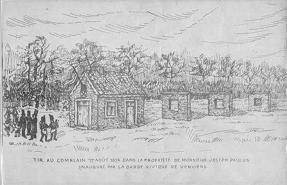 Inauguration du rir au fusil Comblain à Visé en 1874