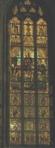 St Martin vitrail des arquebusiers collégiale St Martin de Visé