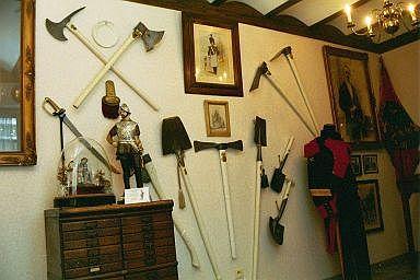 Musée des Francs Arquebusiers matériel de sapeurs