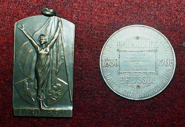 Musée des Francs Arquebusiers médailles commémoratives Bruxelles et Liège